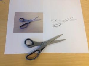 scissors: photo, drawing, object