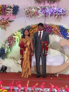 Mottagningsceremonin på ett indiskt bröllop