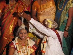 Vigselceremonin på ett indiskt bröllop