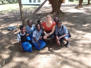 Skolbarn i Mpongwe