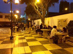 Schackspel på gatan