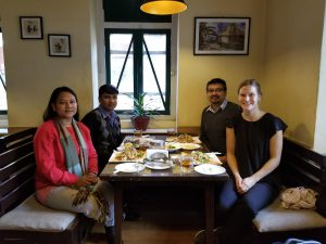 Lunch with the Australia Awards Nepal team