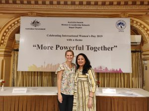International Womens Day Celebration, me and Sanjana from the Australian Embassy in Nepal