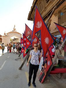 Me and the Nepali flag