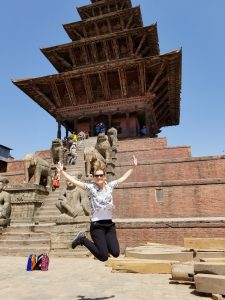 Me at the Bhaktapur Durbar Square