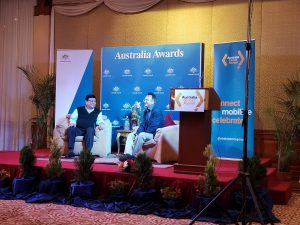 Australia Awards Nepal hosting an inspiration talk program with Dr Sanduk Ruit