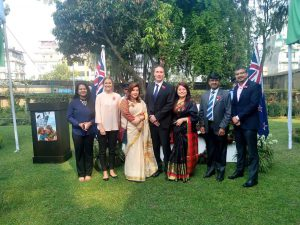 Me and staff from the Australian Embassy and Australia Awards Nepal at the ANZAC Day memorial