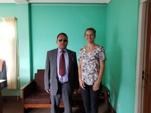 Me and Mr NB Limbu from the Nepal Association of the Blind
