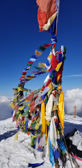 Nepali prayer flags at the Mardi Himal
