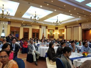 Audience at the Australia Awards Nepal talk program with Dr Sanduk Ruit