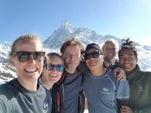 This was the Mardi Himal trek team