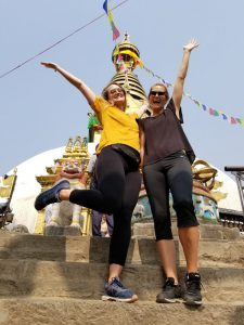Hanna and I at Swayambhunath Stupa (Monkey Temple)