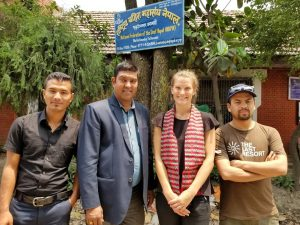 Me and KP Adhikari and two interpreters at the NDFN