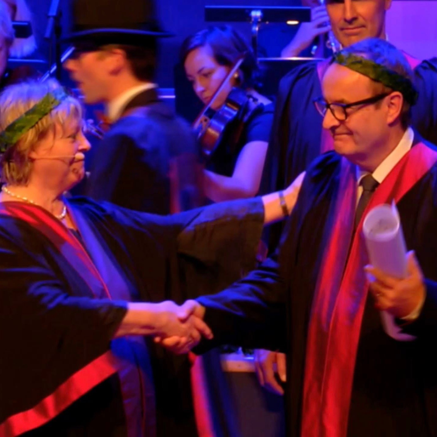 John Storan honorary doctor at Culture and Society