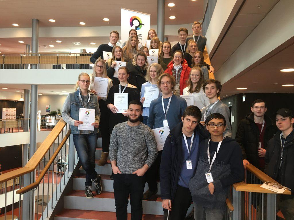 Bild på deltagare i Unga Forskare